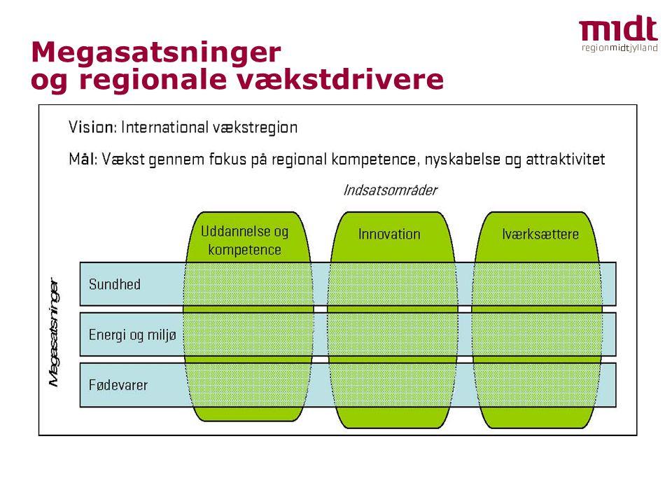 Megasatsninger og regionale vækstdrivere