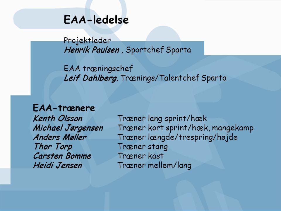 EAA-ledelse EAA-trænere Projektleder Henrik Paulsen , Sportchef Sparta