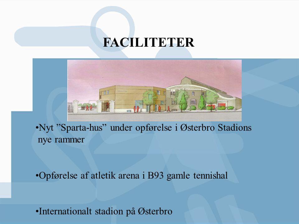 FACILITETER Nyt Sparta-hus under opførelse i Østerbro Stadions nye rammer. Opførelse af atletik arena i B93 gamle tennishal.