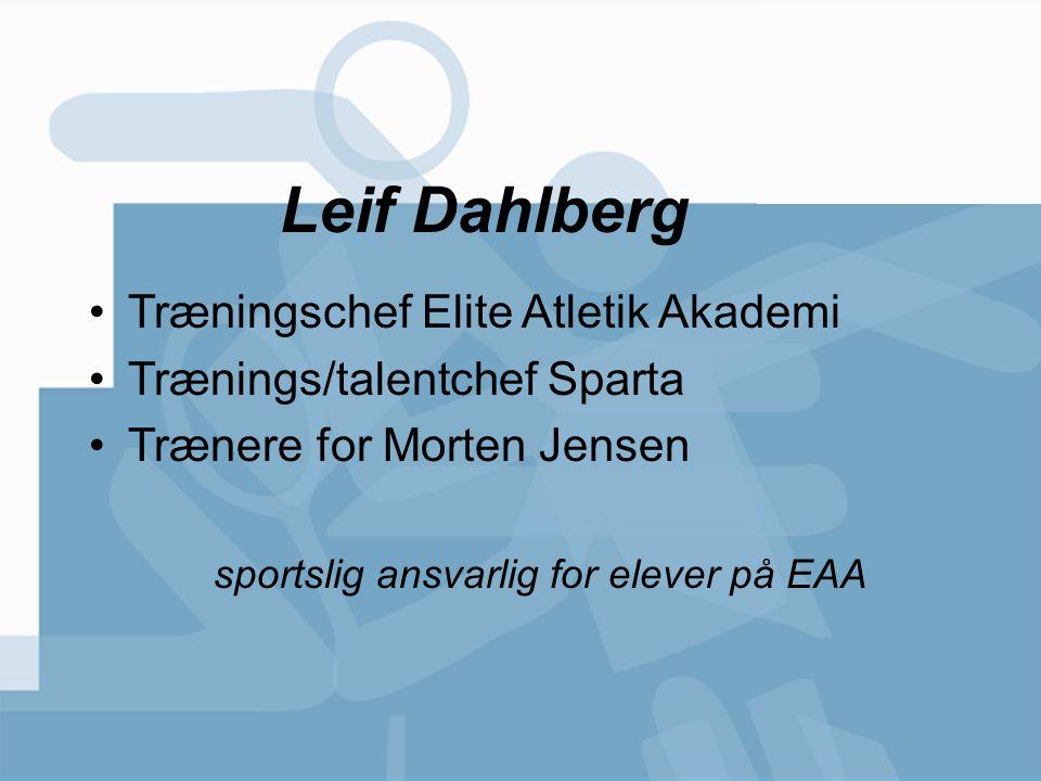 sportslig ansvarlig for elever på EAA