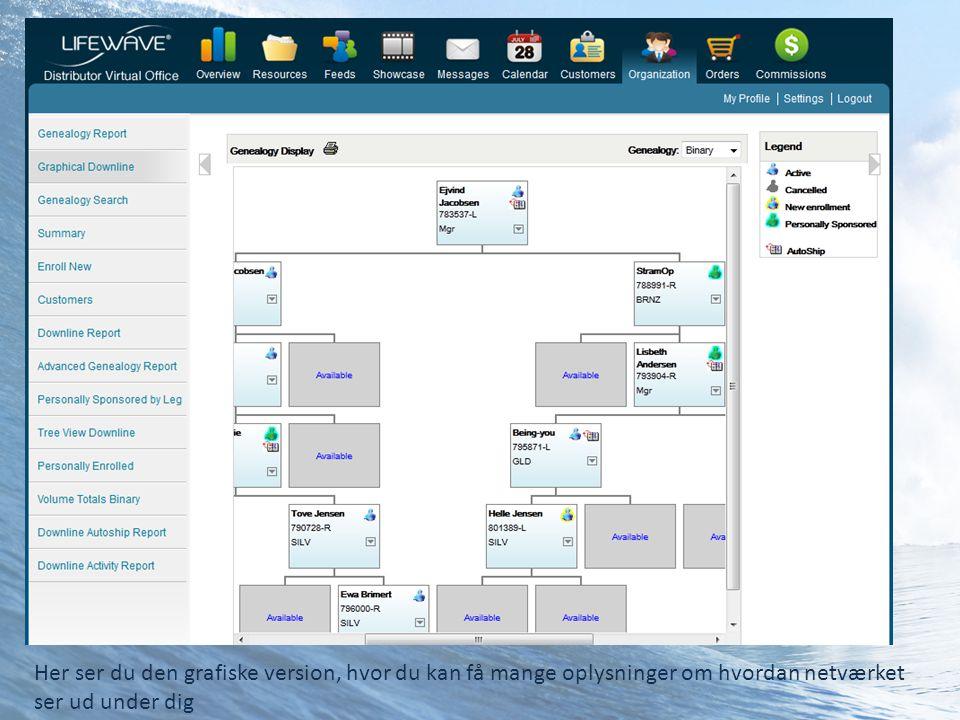 Her ser du den grafiske version, hvor du kan få mange oplysninger om hvordan netværket ser ud under dig