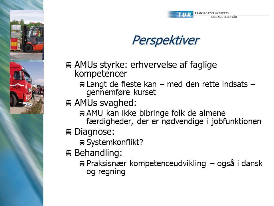 Perspektiver AMUs styrke: erhvervelse af faglige kompetencer