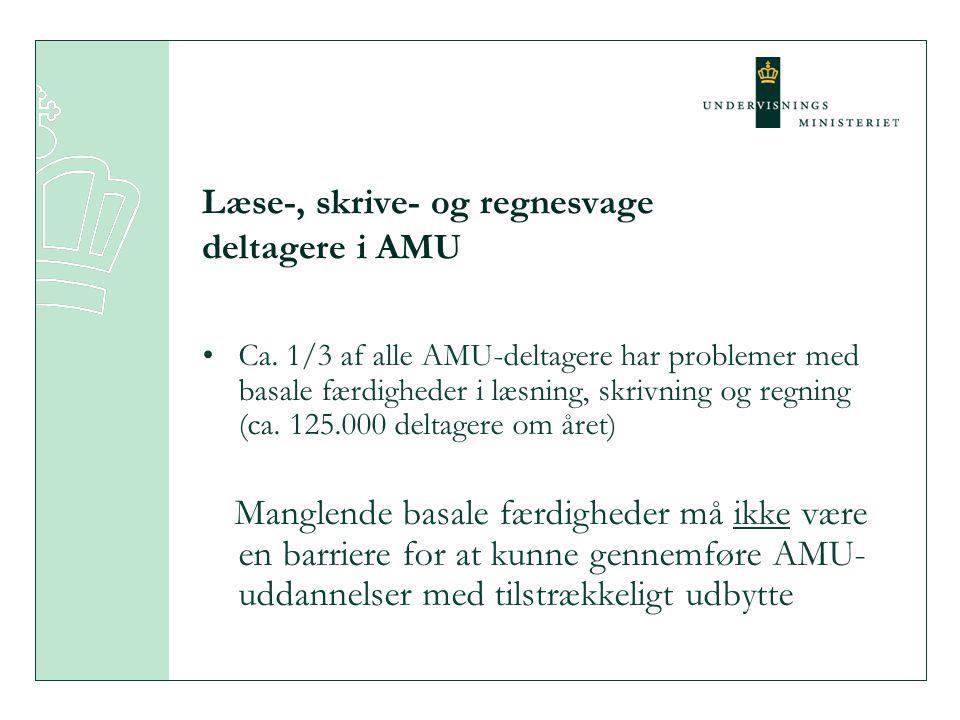 Læse-, skrive- og regnesvage deltagere i AMU