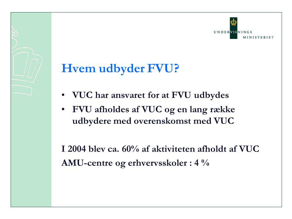 Hvem udbyder FVU VUC har ansvaret for at FVU udbydes