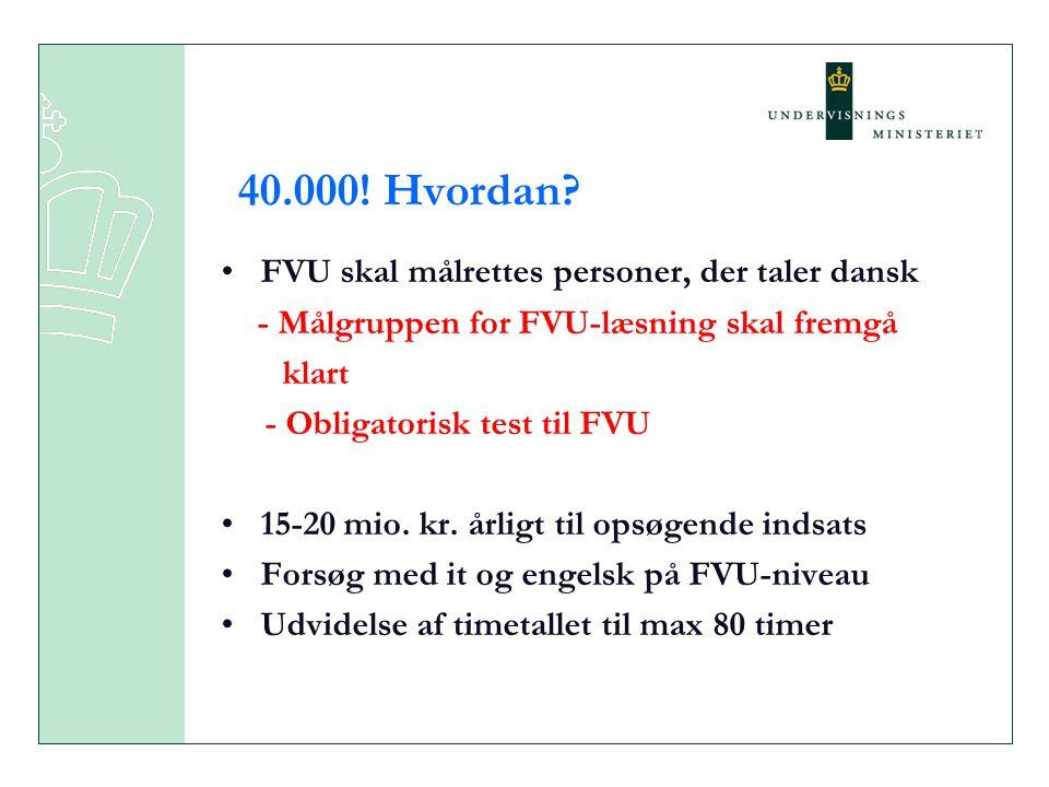 40.000! Hvordan FVU skal målrettes personer, der taler dansk klart