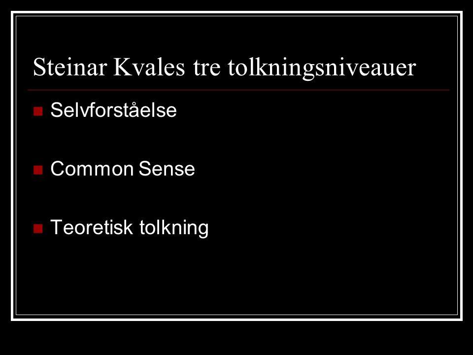Steinar Kvales tre tolkningsniveauer