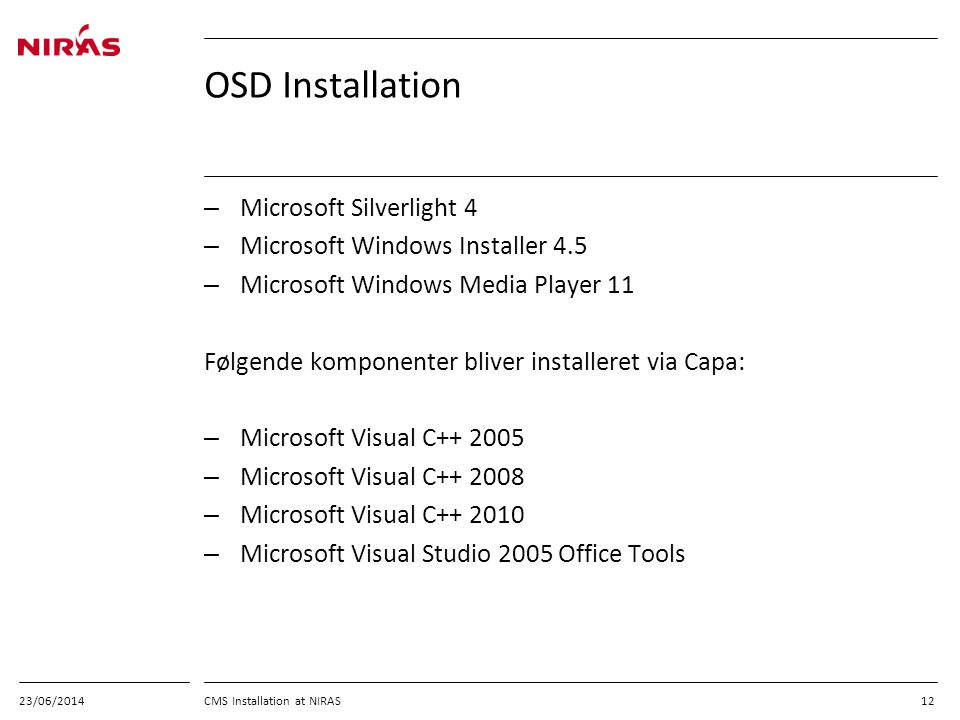 OSD Installation Microsoft Silverlight 4