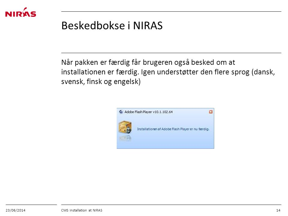03/04/2017 Beskedbokse i NIRAS.