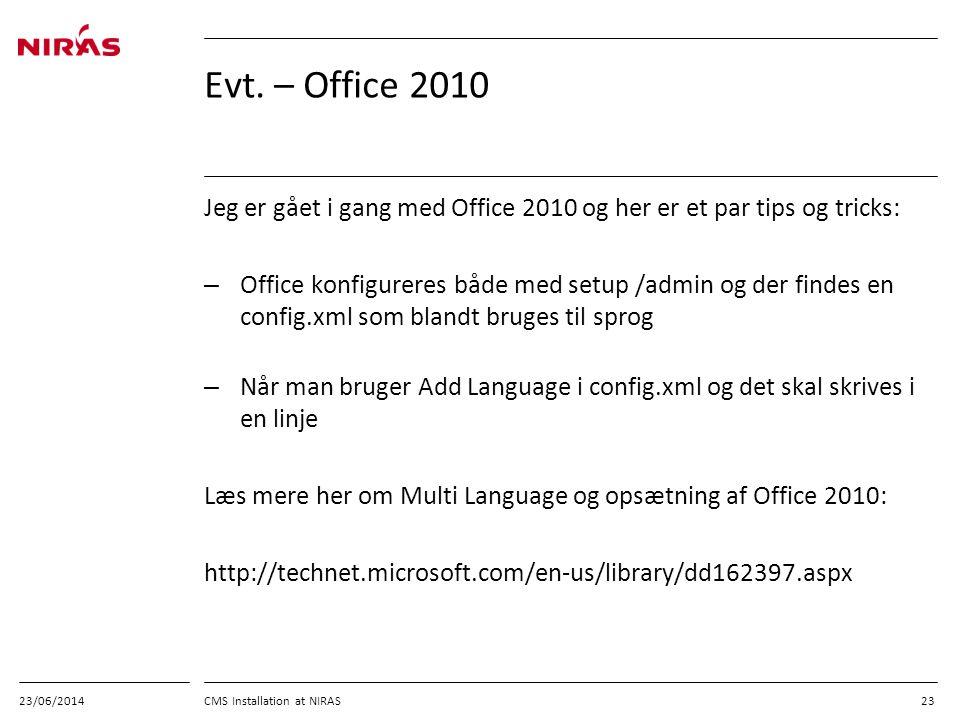 03/04/2017 Evt. – Office 2010. Jeg er gået i gang med Office 2010 og her er et par tips og tricks: