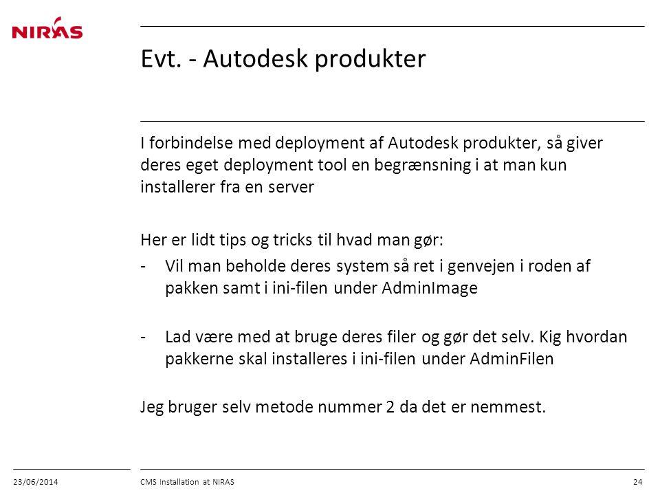 Evt. - Autodesk produkter