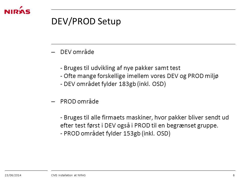 03/04/2017 DEV/PROD Setup.