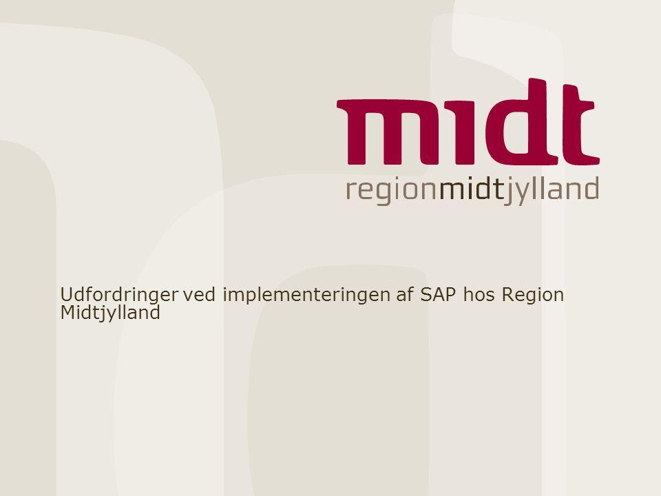 Udfordringer ved implementeringen af SAP hos Region Midtjylland