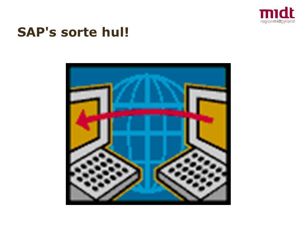 SAP s sorte hul!