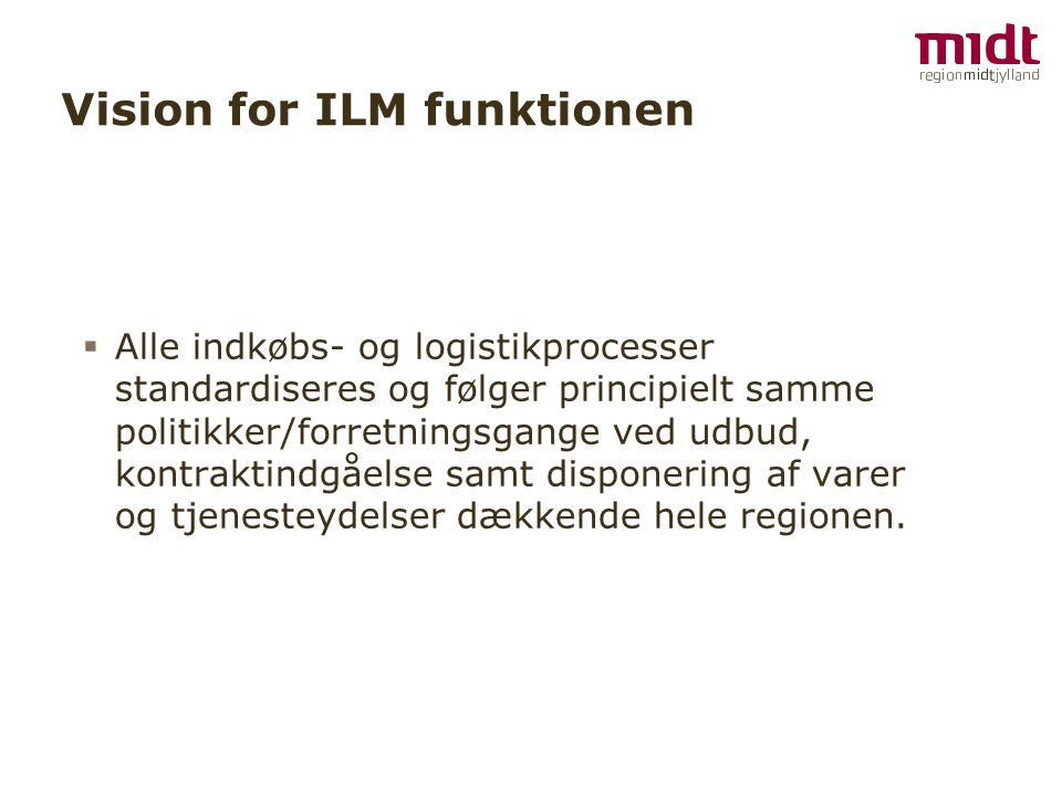 Vision for ILM funktionen