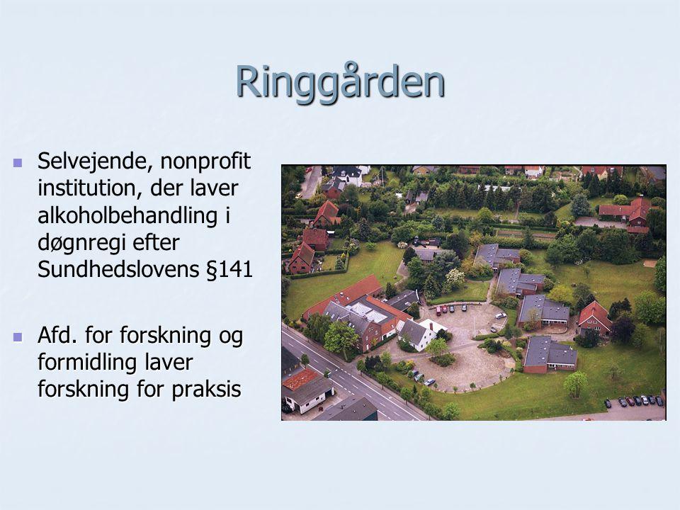 Ringgården Selvejende, nonprofit institution, der laver alkoholbehandling i døgnregi efter Sundhedslovens §141.