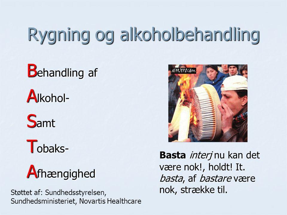 Rygning og alkoholbehandling