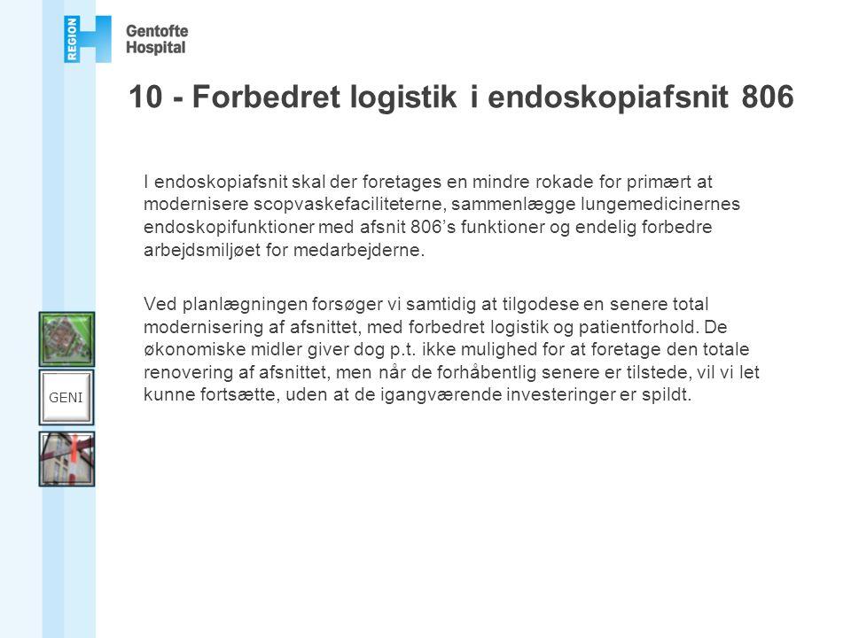 10 - Forbedret logistik i endoskopiafsnit 806