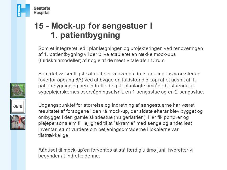 15 - Mock-up for sengestuer i 1. patientbygning