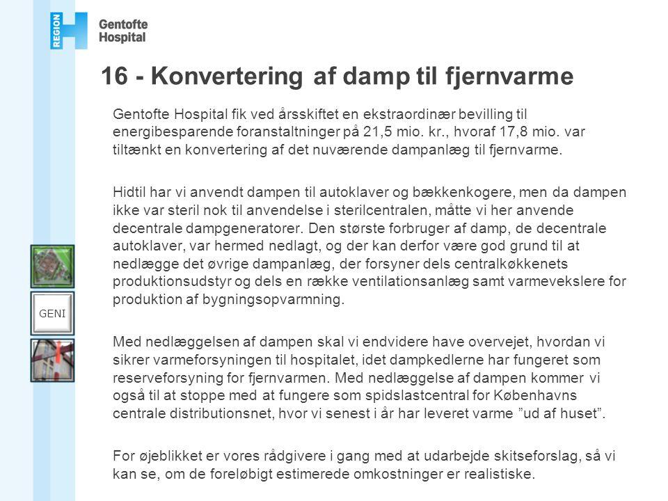 16 - Konvertering af damp til fjernvarme