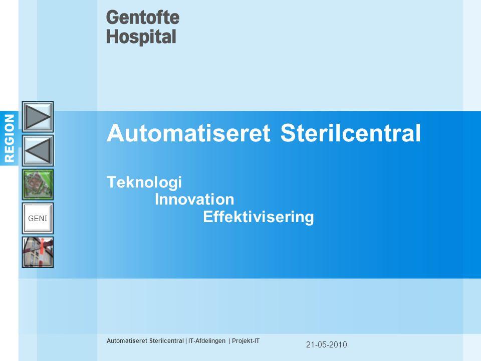 Automatiseret Sterilcentral Teknologi Innovation Effektivisering
