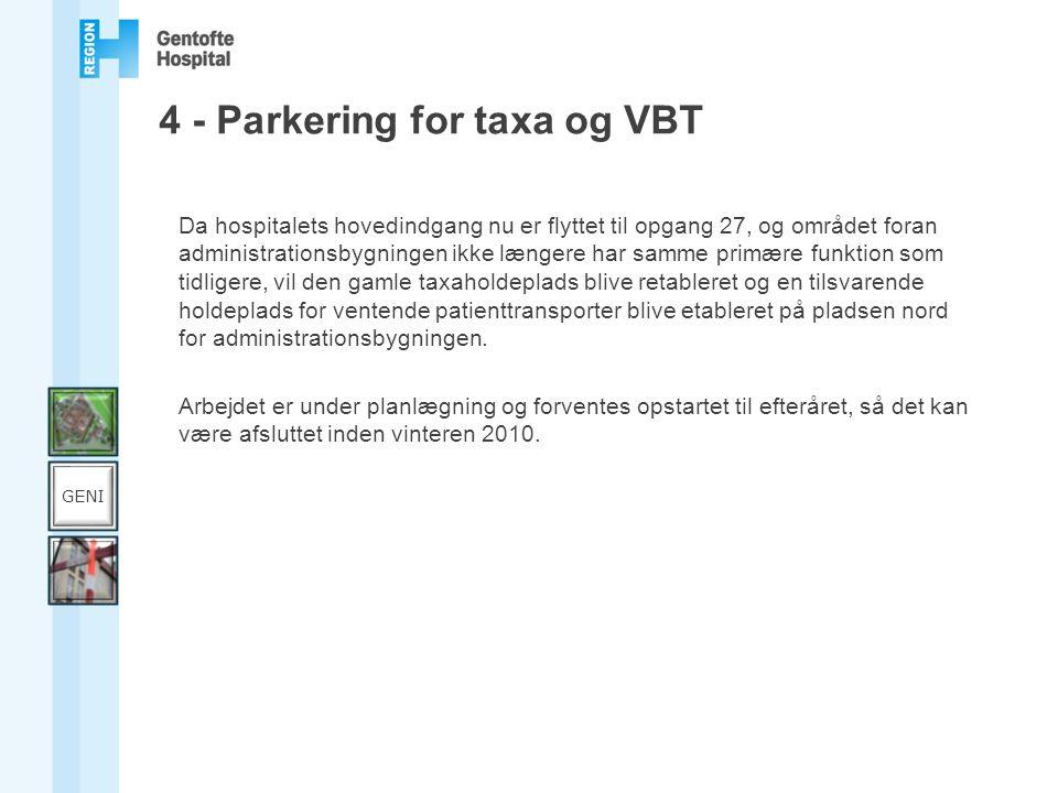 4 - Parkering for taxa og VBT