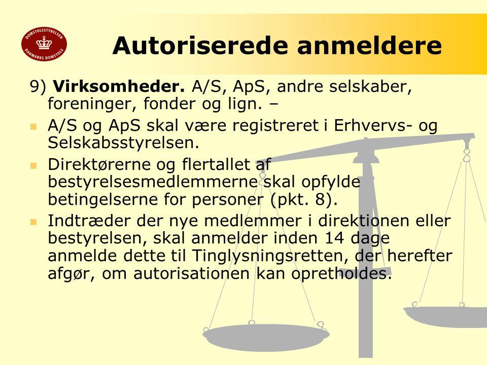 Autoriserede anmeldere