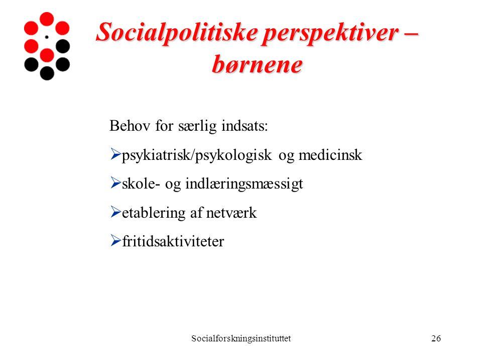 Socialpolitiske perspektiver – børnene
