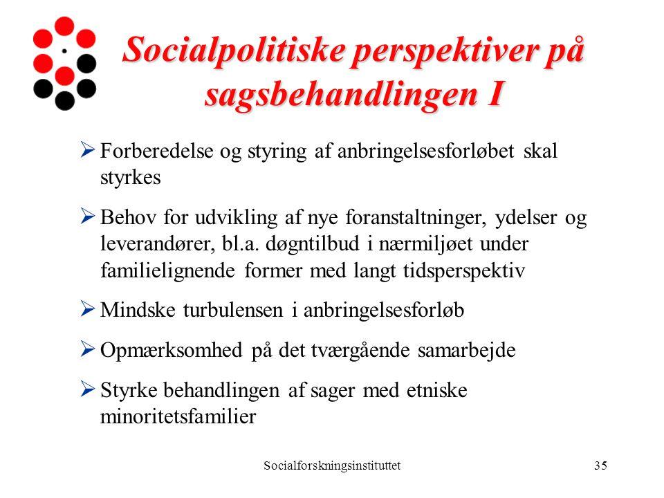 Socialpolitiske perspektiver på sagsbehandlingen I