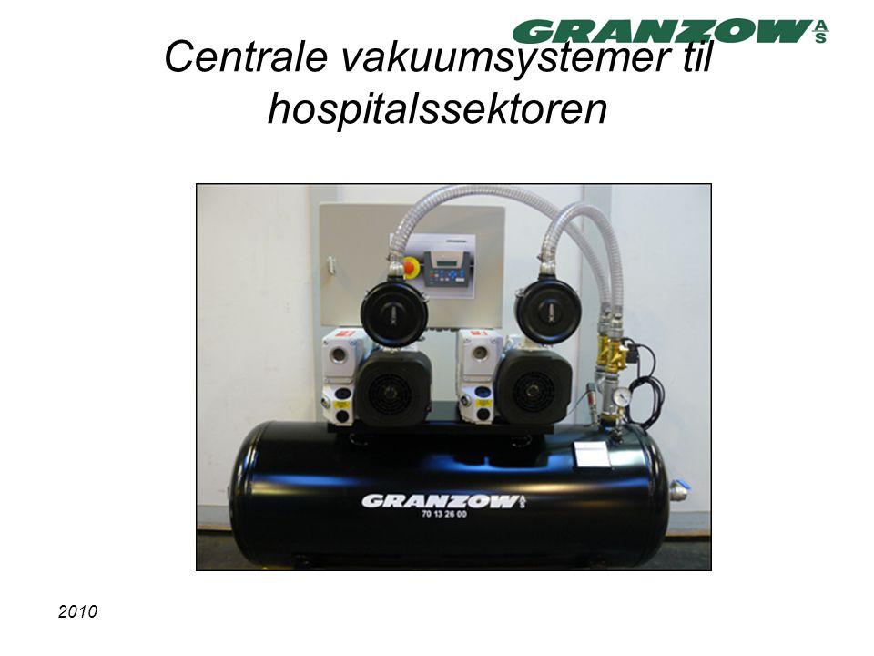 Centrale vakuumsystemer til hospitalssektoren
