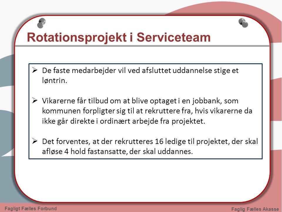 Rotationsprojekt i Serviceteam