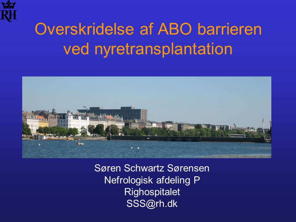 Overskridelse af ABO barrieren ved nyretransplantation