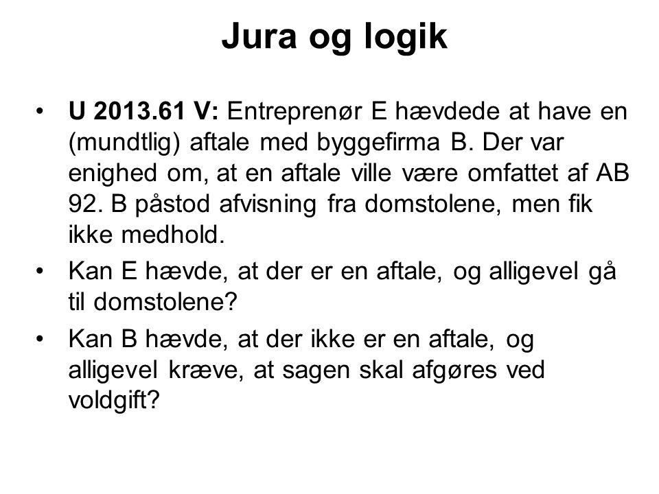 Jura og logik