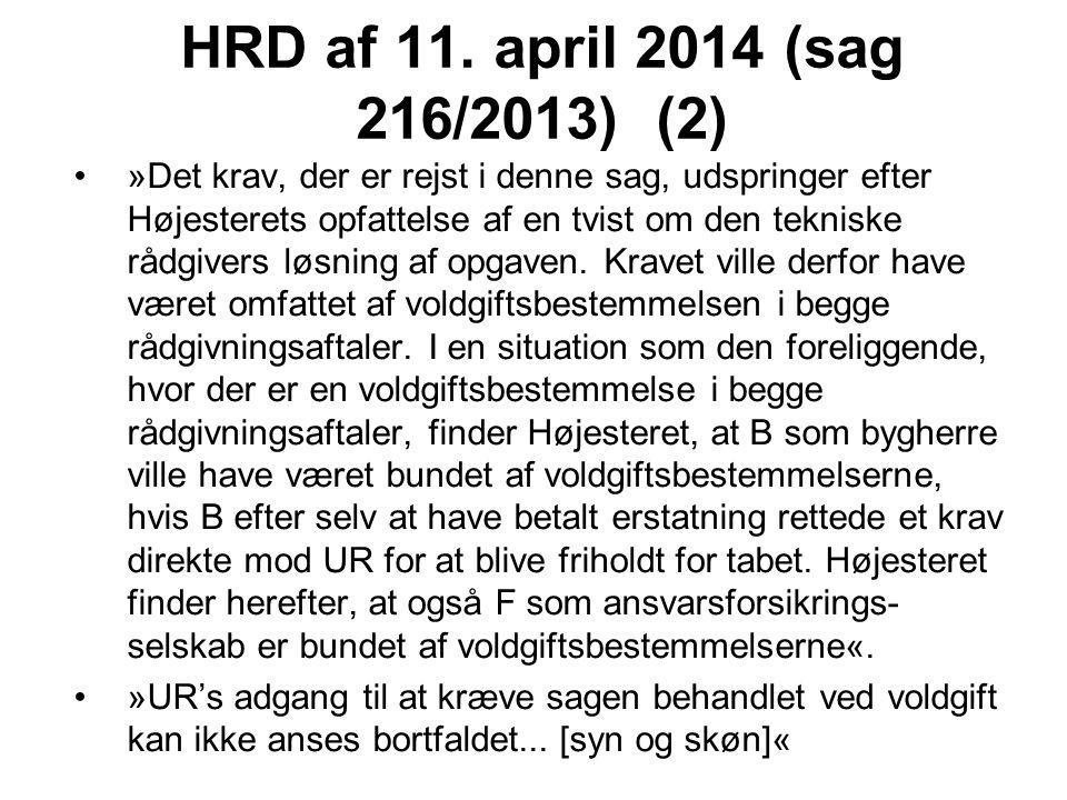 HRD af 11. april 2014 (sag 216/2013) (2)