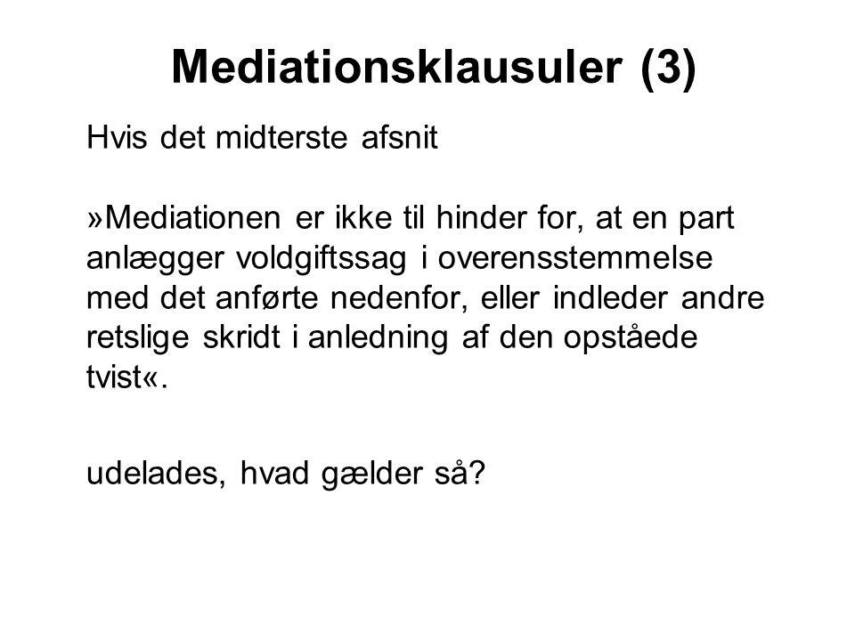 Mediationsklausuler (3)