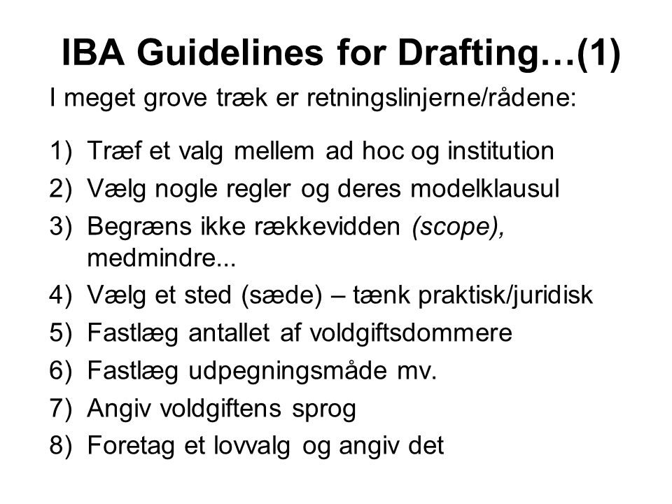 IBA Guidelines for Drafting…(1)