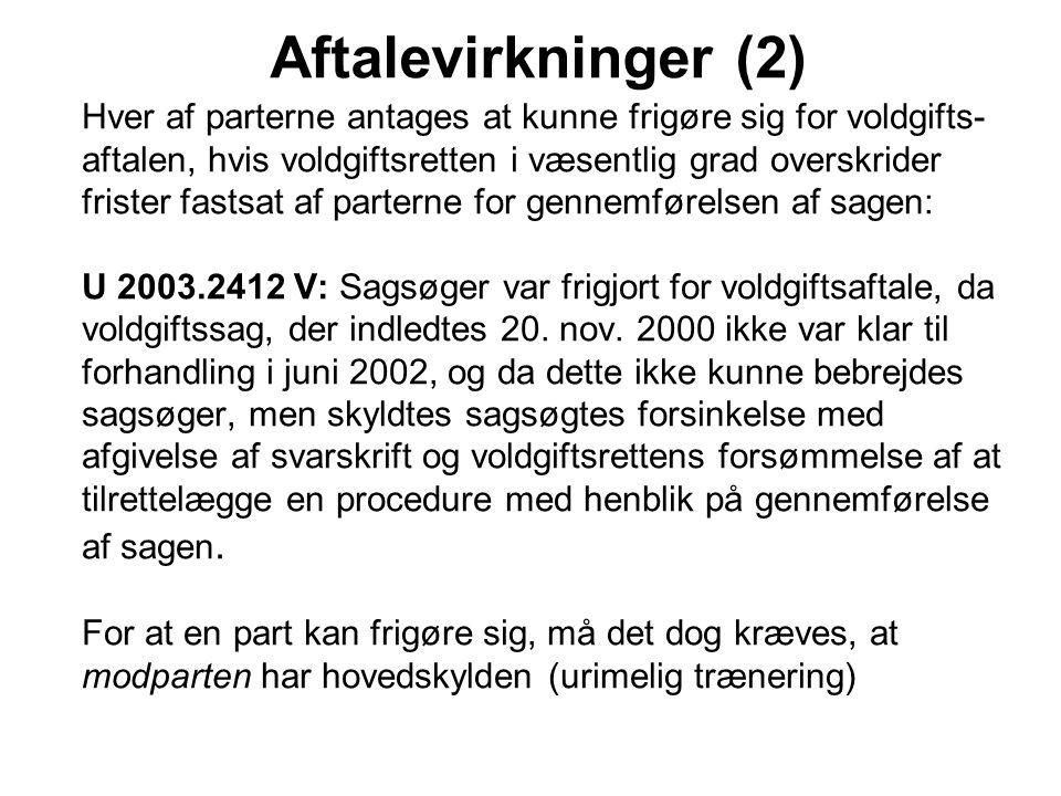Aftalevirkninger (2)