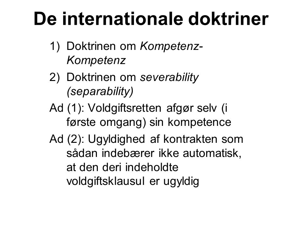 De internationale doktriner