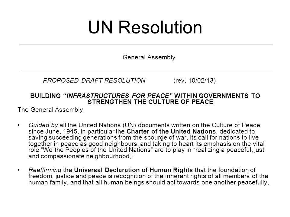 UN Resolution General Assembly