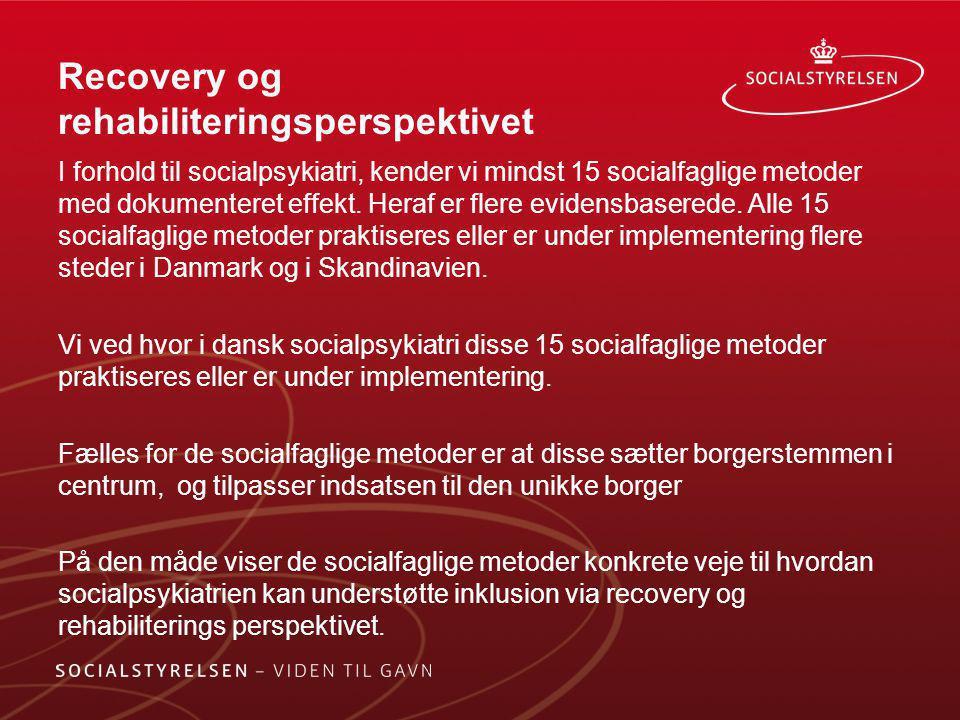 Recovery og rehabiliteringsperspektivet
