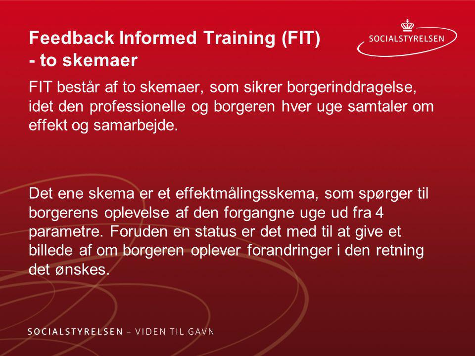 Feedback Informed Training (FIT) - to skemaer