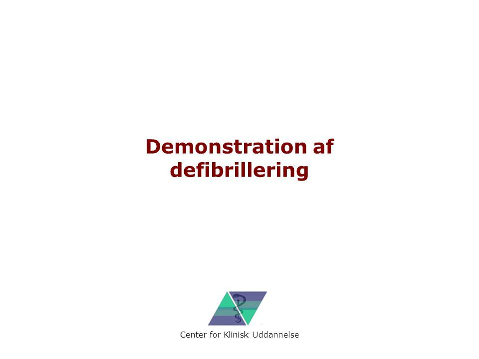 Demonstration af defibrillering