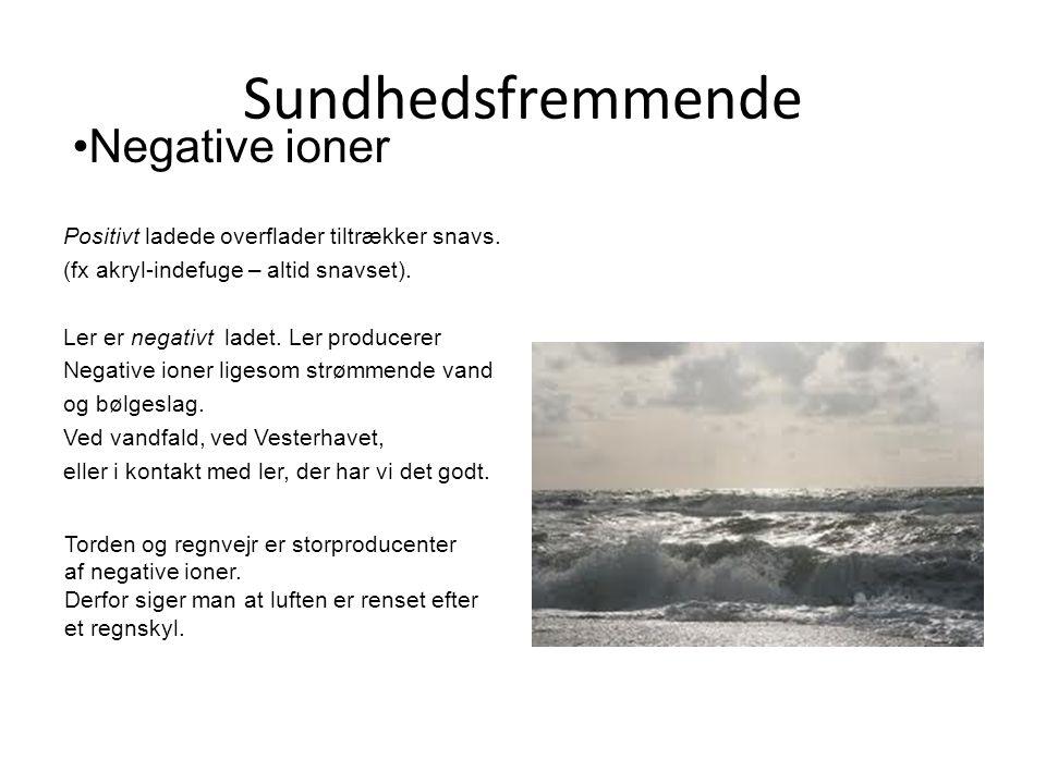 Sundhedsfremmende Negative ioner