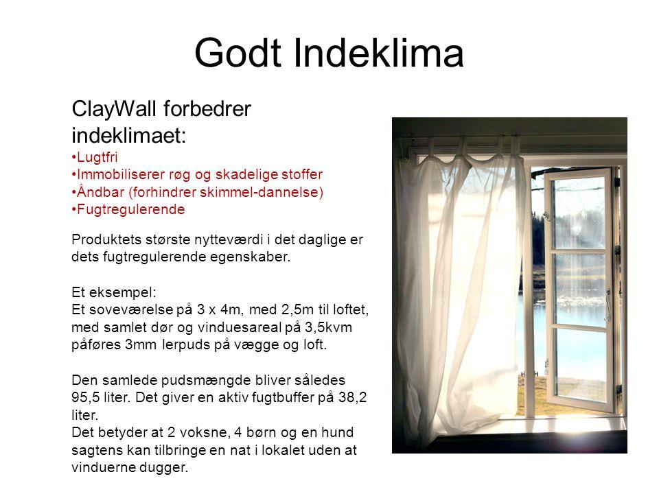 Godt Indeklima ClayWall forbedrer indeklimaet: Lugtfri