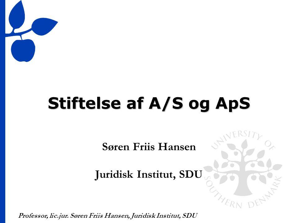 Søren Friis Hansen Juridisk Institut, SDU
