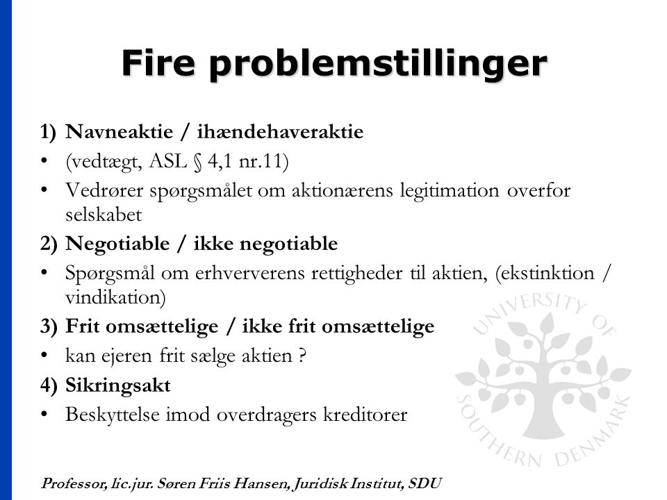 Fire problemstillinger