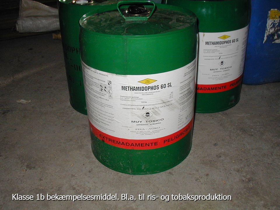 Klasse 1b bekæmpelsesmiddel. Bl.a. til ris- og tobaksproduktion