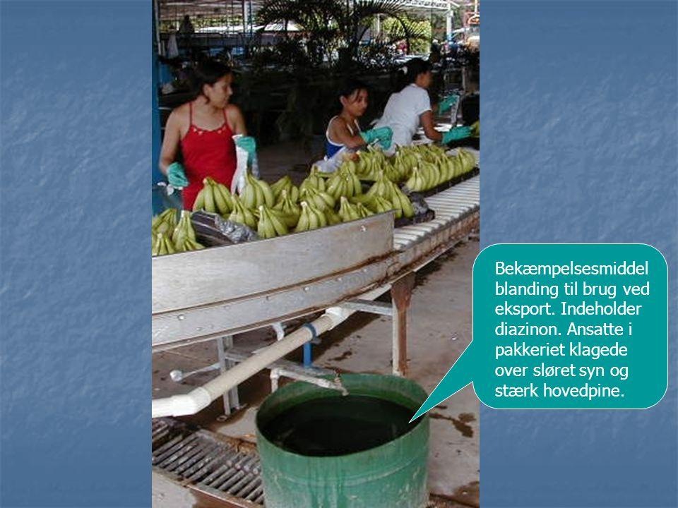 Bekæmpelsesmiddel blanding til brug ved eksport. Indeholder diazinon
