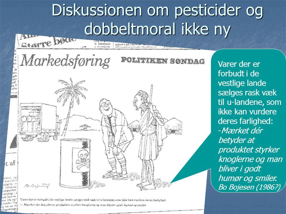 Diskussionen om pesticider og dobbeltmoral ikke ny