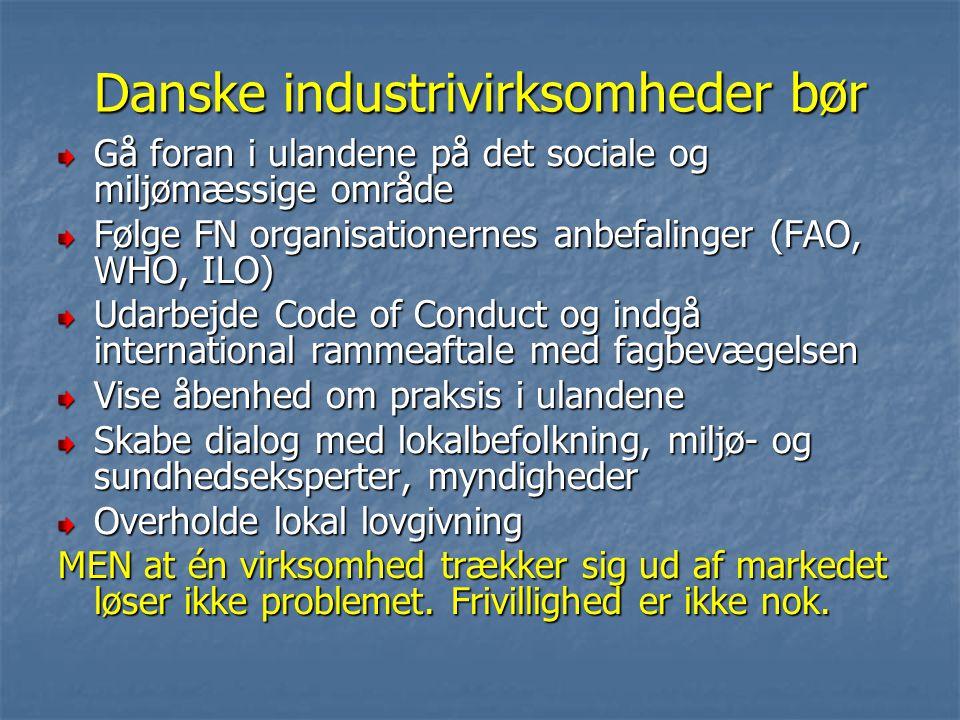 Danske industrivirksomheder bør