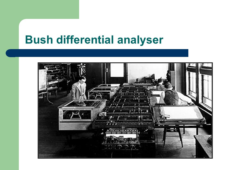 Bush differential analyser